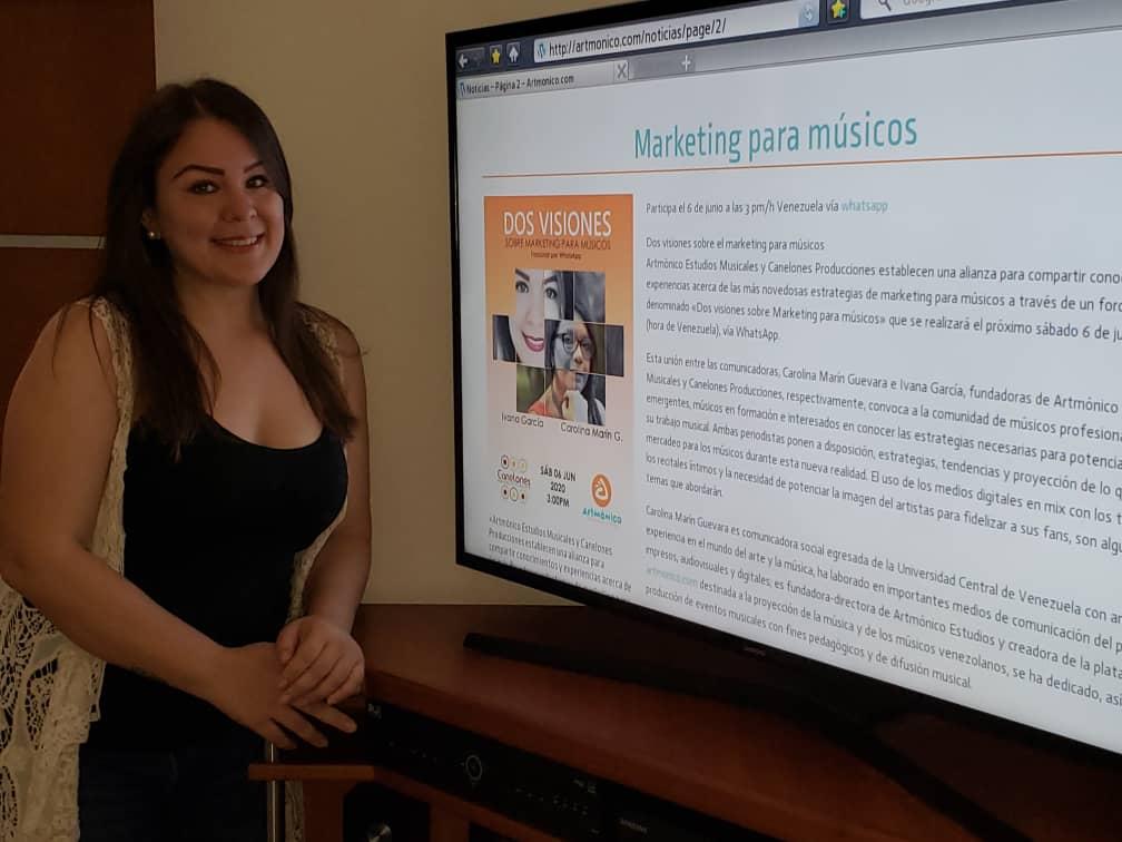 Ivana García, fundadora de Canelones Producciones y comunicadora